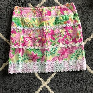 Lilly Pulitzer white tag skirt